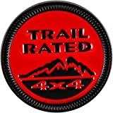 WildAuto Trail Rated Badge, Metal Emblem Badge for Off-Road Car, Color Red+Black (1pcs)