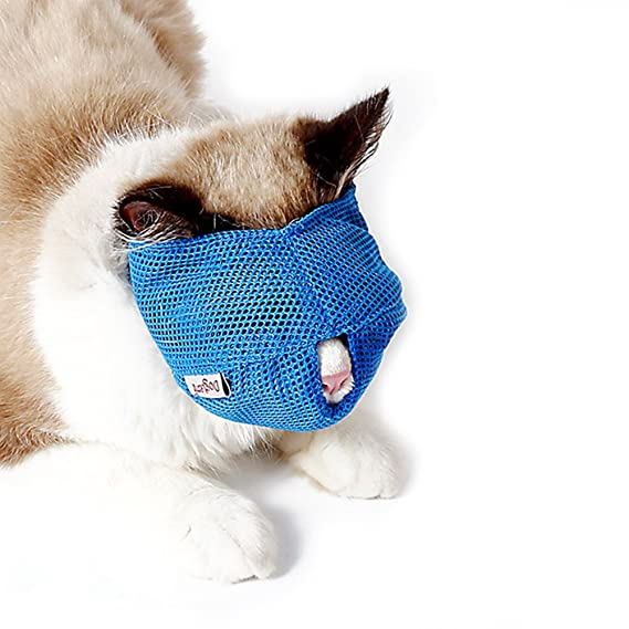 Steellwingsf Bozal de Malla Transpirable para Gato, Antiácaros, Herramienta de Viaje, Bolsa de Baño, Suministros para Mascotas: Amazon.es: Productos para ...