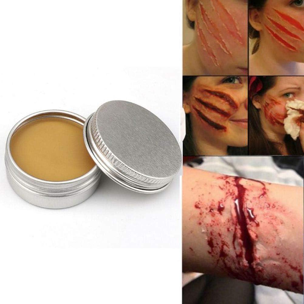 Lucoss 50g Cire De Maquillage pour des Effets Sp/éciaux Maquillage Th/é/âtral Et Halloween Fun sur Le Th/ème Partie Faux Cicatrice Wound Peau De Cire