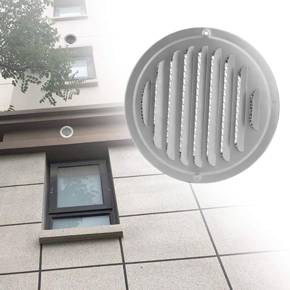 100mm Cubierta de ventilaci/ón de rejilla redonda de salida de aire de salida de tuber/ía de acero inoxidable de 100 mm 150 mm