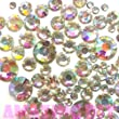 400 pcs 2mm - 6mm Resin Crystal AB round Rhinestones Flatback Mix SIZE ~ M1 - 30