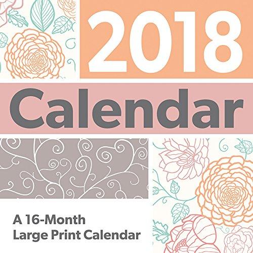 Large Print 2018 Wall - Wall Large Calendar Print
