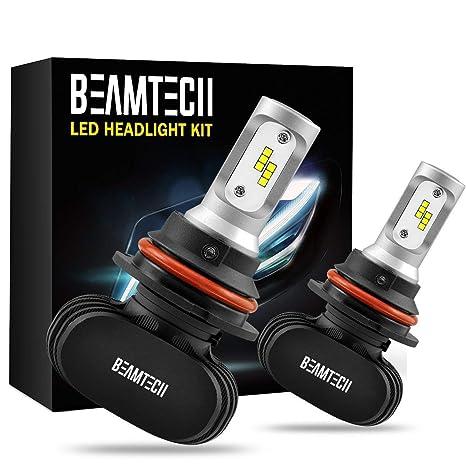 Amazon BEAMTECH 9007 LED Headlight BulbCSP Chips 50W 8000 Lumens 6500K Xenon White Extremely Bright Conversion Kit Of 2 Automotive