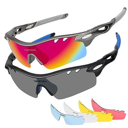 320e807ebd Tsafrer - anteojos de Sol polarizadas, 2 Unidades, Lentes Intercambiables  para Hombres y Mujeres
