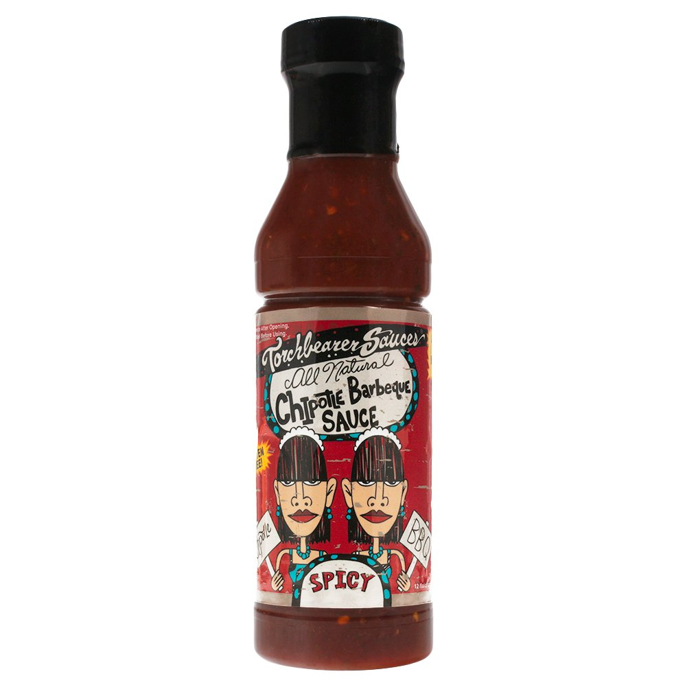 Torchbearer Sauces Chipotle BBQ Sauce, 12 ounces - Spicy - All Natural, Extract-Free, Made in USA