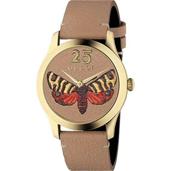 Reloj Gucci G-Timeless 38mm Caso de Oro Correas de Color Beige YA1264063: Amazon.es: Relojes