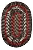 Indoor/Outdoor Rug, Brown Reversible Braided Textured Design, 3Ft. X 5Ft. Oval Deck/Patio Carpet
