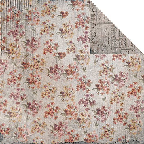Oh! Sew Beautiful Double-Sided Cardstock 12''X12''-Floral Pattern by FabScraps