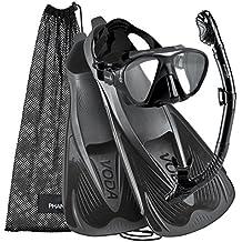 Phantom Aquatics Voda Full Foot Mask Fin Snorkel Set, Made In Italy