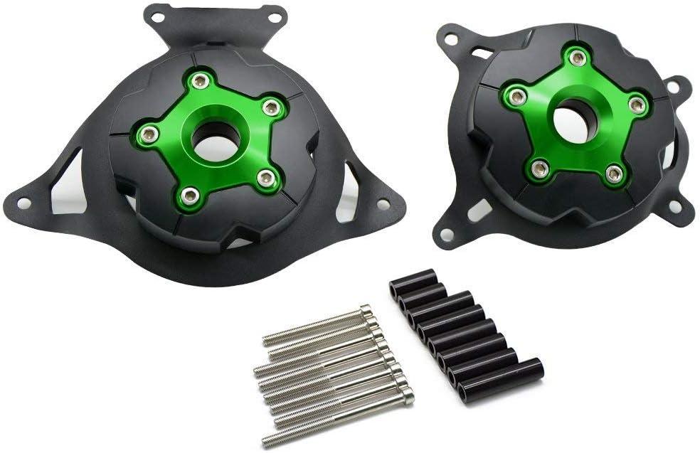 Z800 Z750 Motorcycle Engine Protector Left /& Right Engine Stator Cover Engine Protective Cover For KAWASAKI Z800 Z 800 2013 2014 2015 2016 2017 Z750 2009 Green