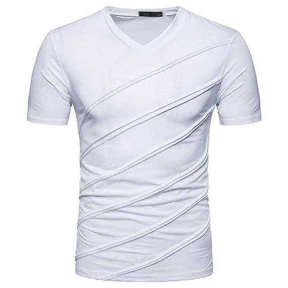 Männer Baumwolle Casual Tops T V Neck Solid Shirts Slim Fit Kurzarm Sommer Stil Heißer Attraktiv Und Langlebig Mutter & Kinder
