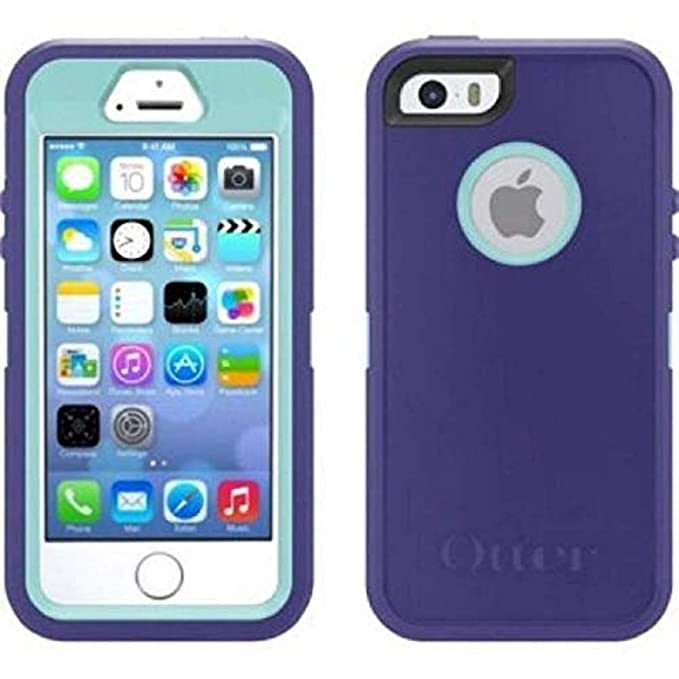 sale retailer 239b5 7536d OtterBox Defender Case for iPhone 8 / iPhone 7 with Belt Clip Holster fits  OtterBox with Cable - Purple Blue