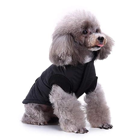 8e4cccf8f4c8 Xbeast Pet Caldo Cappotto Moda Antivento Riflettente Patch Tasca Giacca in  Cotone Clima Freddo Cucciolo Gatti