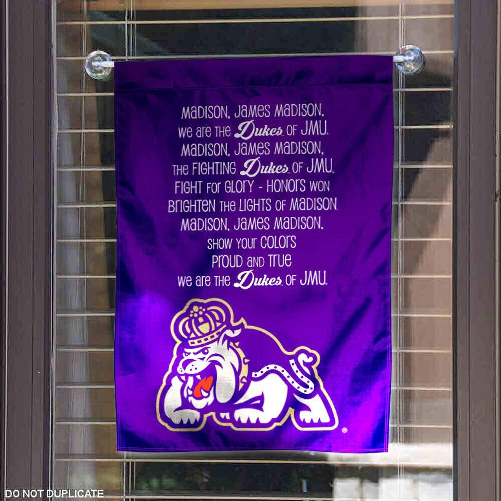 James Madison Dukes Fight Song Lyrics Garden Flag and Banner
