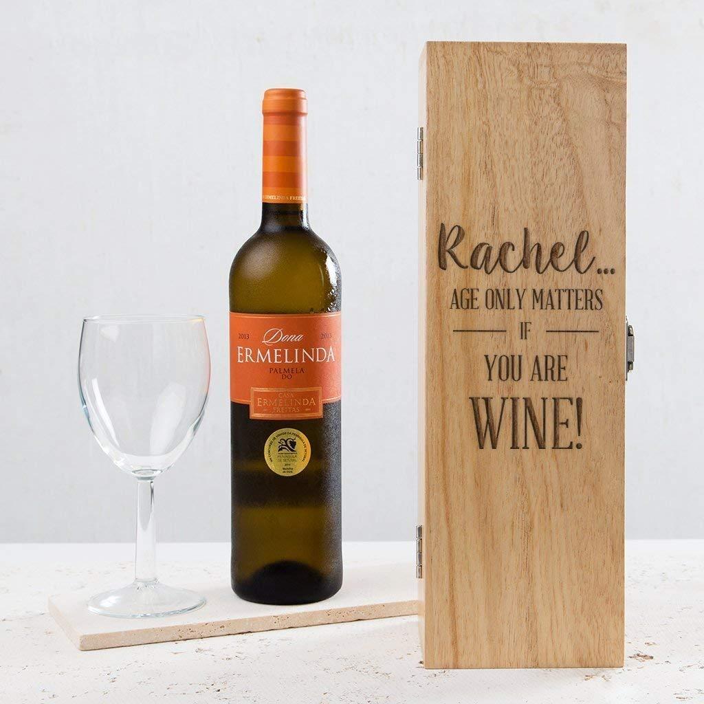 Personalised Antique Design 3 Bottle Wine Box Engraved Birthdays Weddings  Gift