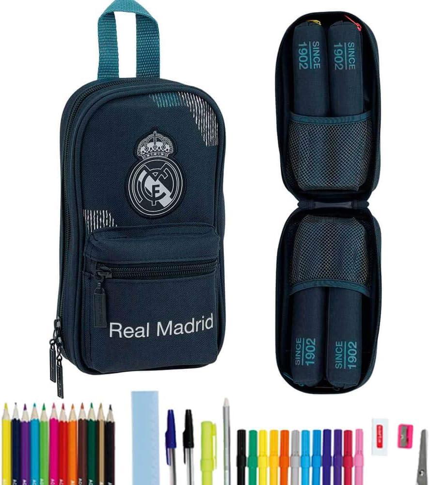 Safta Estuche Mochila Lleno Real Madrid, (411834747): Amazon.es: Juguetes y juegos