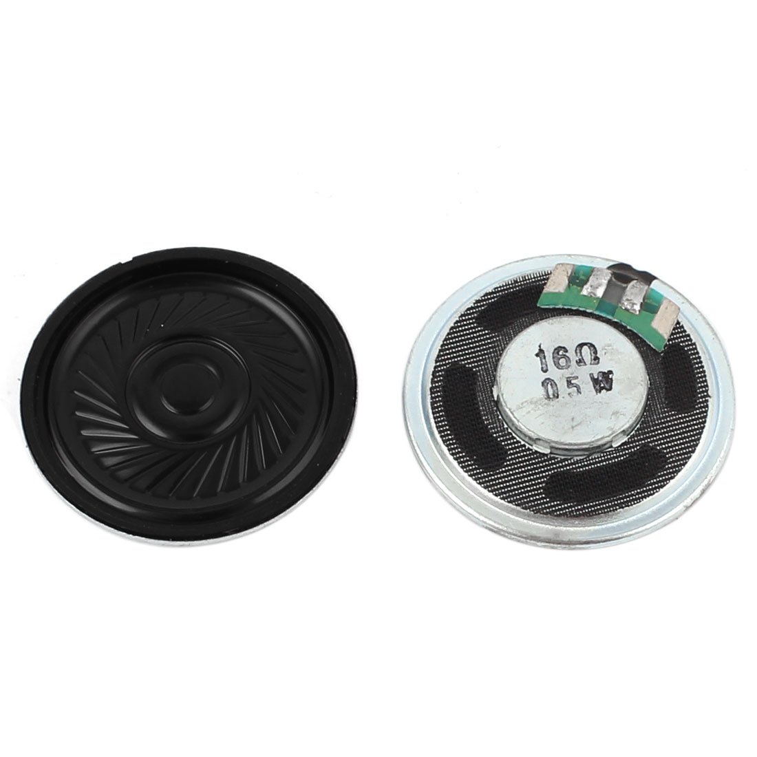 uxcell 2 Pcs 0.5W 16Ohm 36mm Round Inside Magnet Electronic Speakers Trumpet