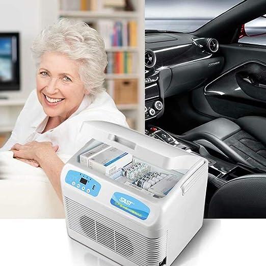 Frigorifero Portatile 12L Mini Fridge Cooler Freezer Farmaci Anti-Insulina Frigorifero Warmer TG Car Home Viaggi Camping Picnic,Enhancededition