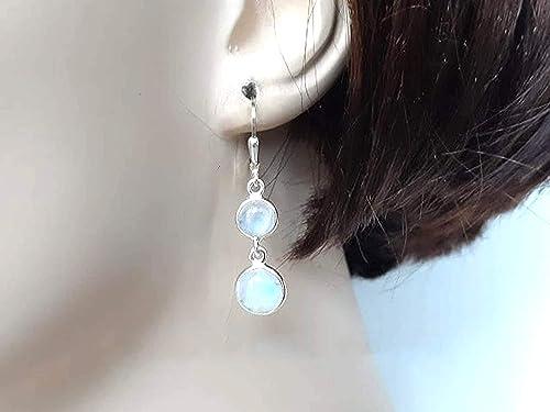 Earring Rainbow Moonstone Gemstone Earring Handmade Earrings