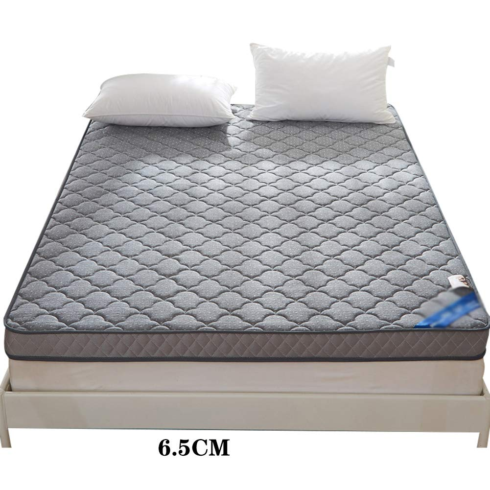 A-6.5cm 200x220cm(79x87inch) Thicken Memory Foam Mattress,Fluffy Foldable Quilted Fitted Tatami Mattress Hypoallergenic Extra-Cushy Damp-Proof Mattress Topper-C-6.5cm 100x200cm(39x79inch)