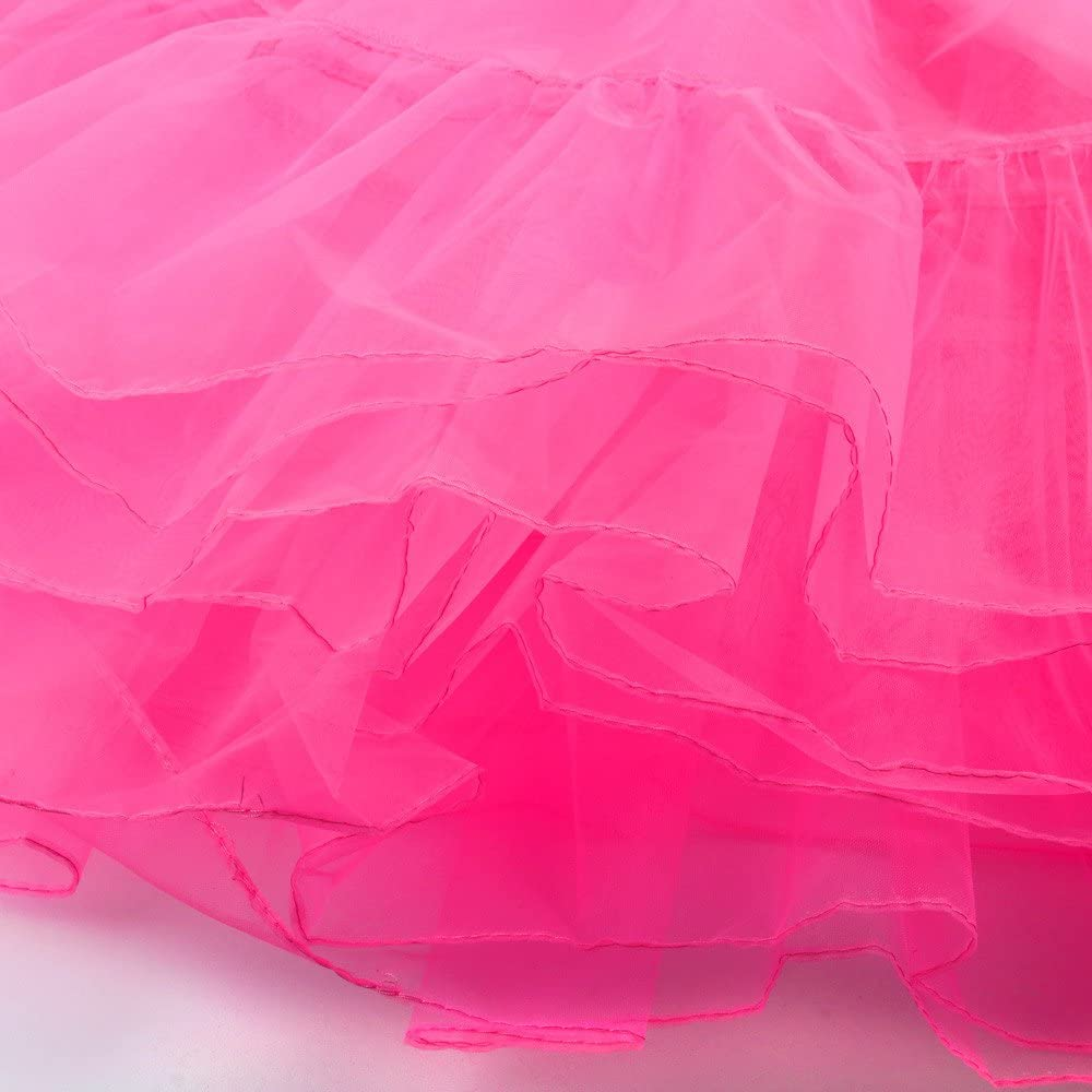1 1950 Petticoat Reifrock Unterrock Petticoat Underskirt Crinoline f/ür Rockabilly Kleid Frauen Retro Faltenrock Tutu Organza Vintage Rockabilly Kurz Reifrock Unterrock Tutu f/ür Karneval Party carol