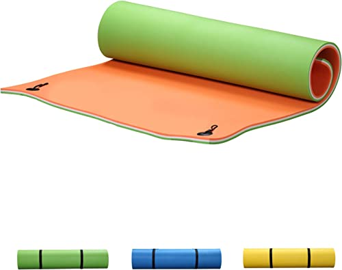 OVASTLKUY Floating Water Pad 12x6ft Swimming Pool Foam Sports Mat Floating Mats for The Water 3colors