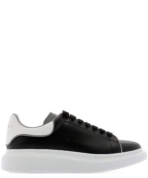 Alexander McQueen Sneakers Uomo 561123WHTQK1071 Pelle Nero ...