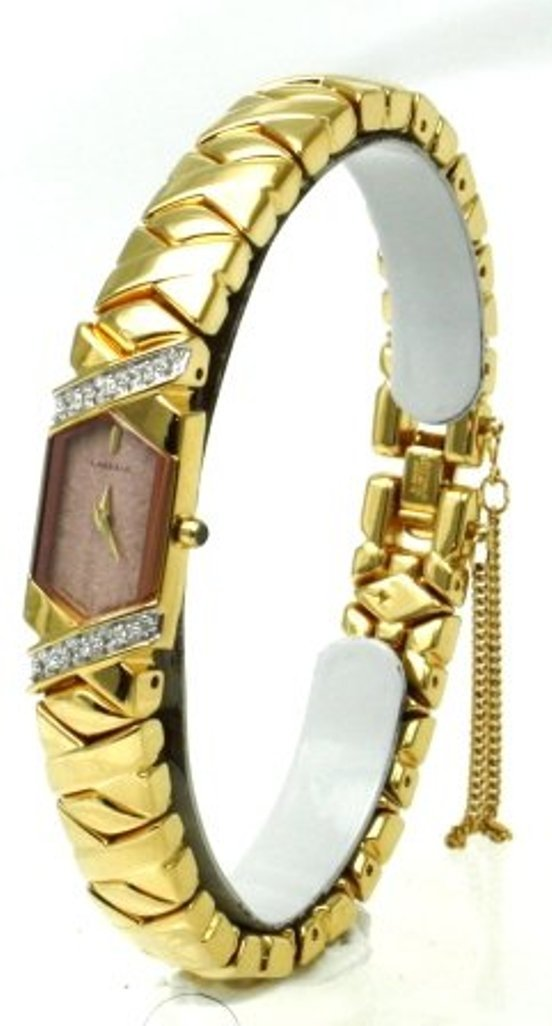 Seiko Lassale SEIKO Top of the Line Diamonds Sapphire Crystal and Safety Chain 22 k Gold Finish all Made in Japan Women's Watch