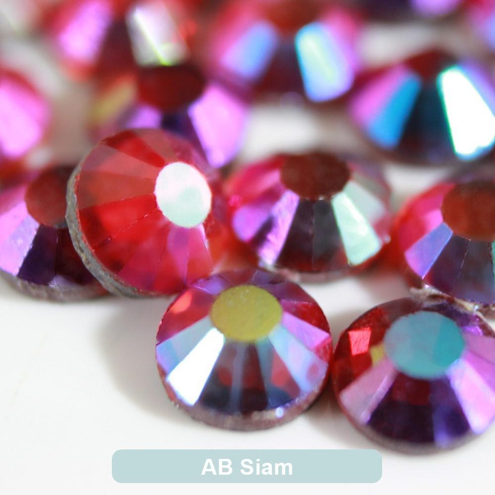 BrillaBenny 1400 Strass Light SIAM AB Rosso AB TERMOADESIVI DmC MC Quality HOTFIX Rhinestone Red AB Crystal Glass Iron On Tessuti Cellulari Decori Abiti Gioielli SS10//3MM