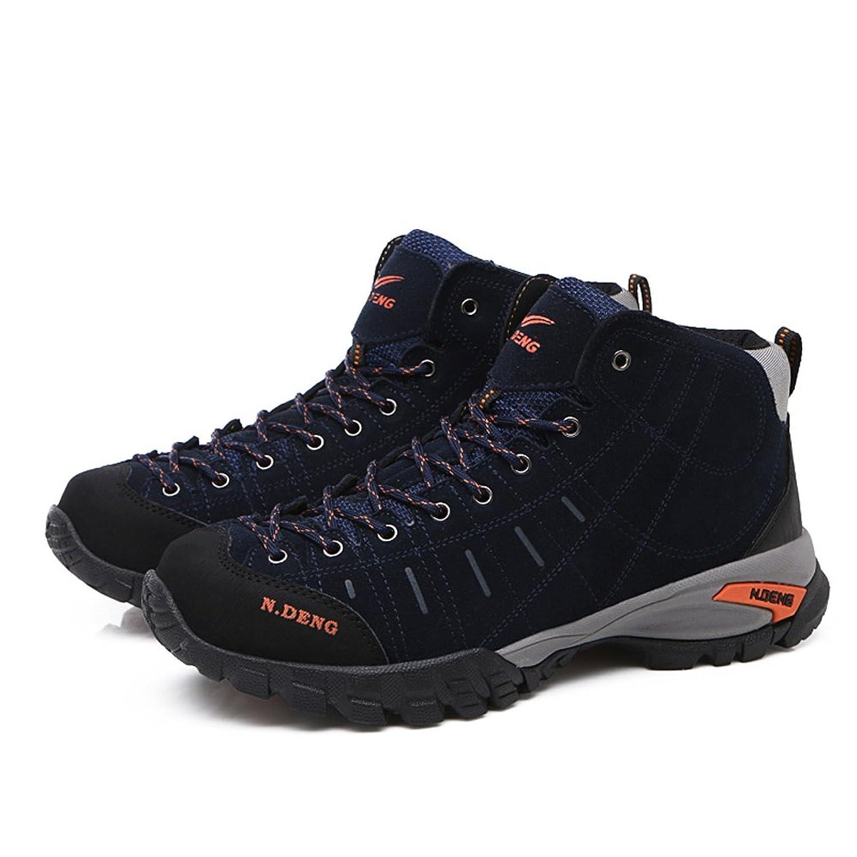 Hiking Boots High Top Men Trekking Shoes Non Slip Outdoor Winter Warm Fur Lined Sneakers
