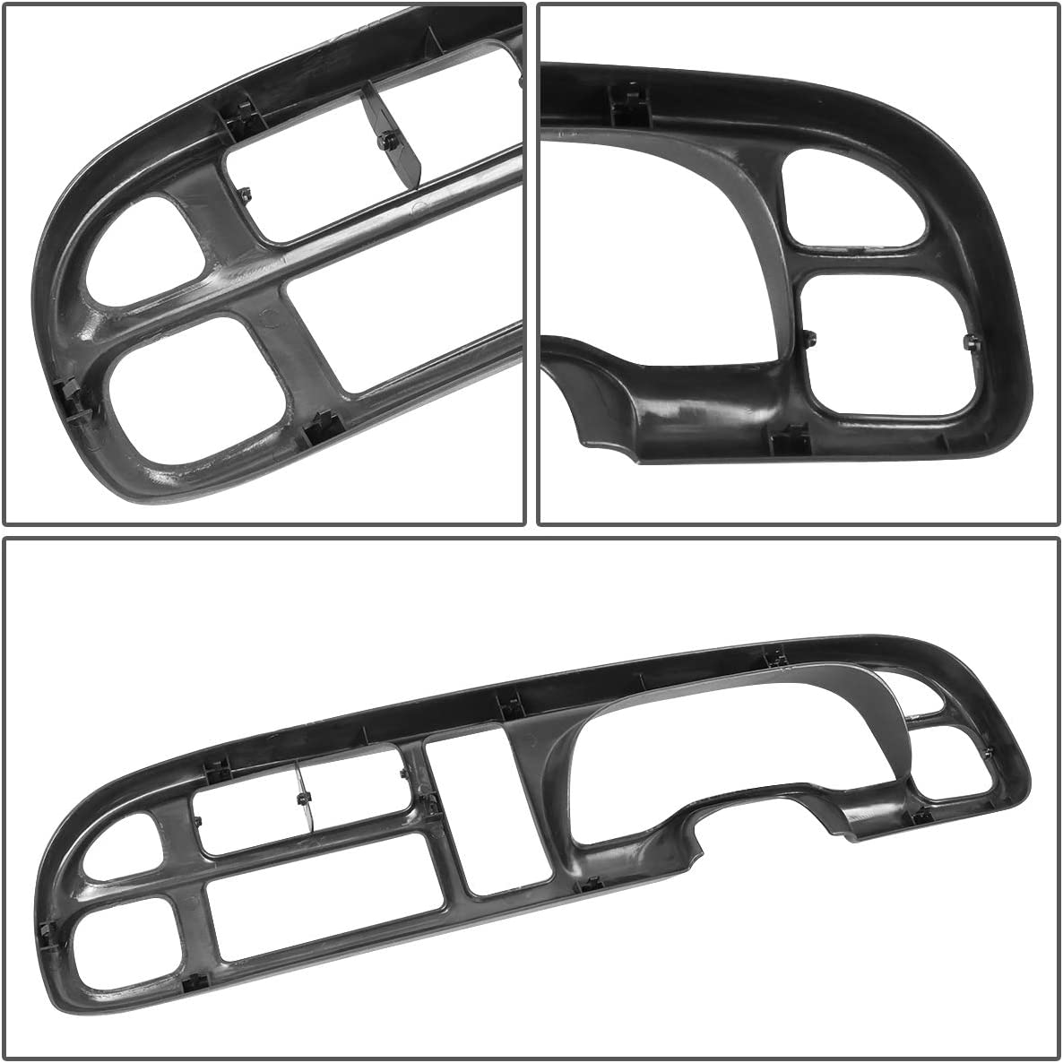 Dashboard Cover Cap Overlay Instrument Bezel for Dodge Ram Truck 1500 2500 3500 98-02