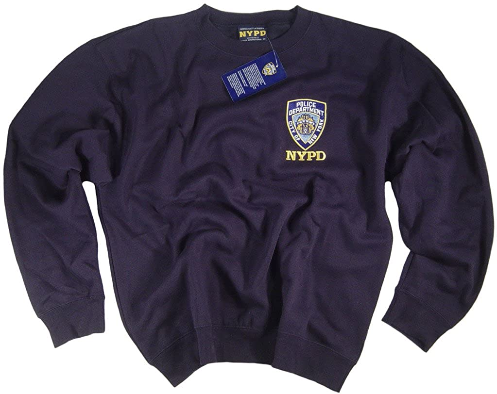 NYPD colore: blu Navy, Maglietta Authentic Apparel Clothing licenza ufficiale dal New York City Police Department