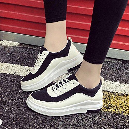 Pensión En Zapatos De Fondo Zapatos La Zapatos Primavera Plano Negro Blancos Mujeres Blancos GAOLIM HUdgwxH