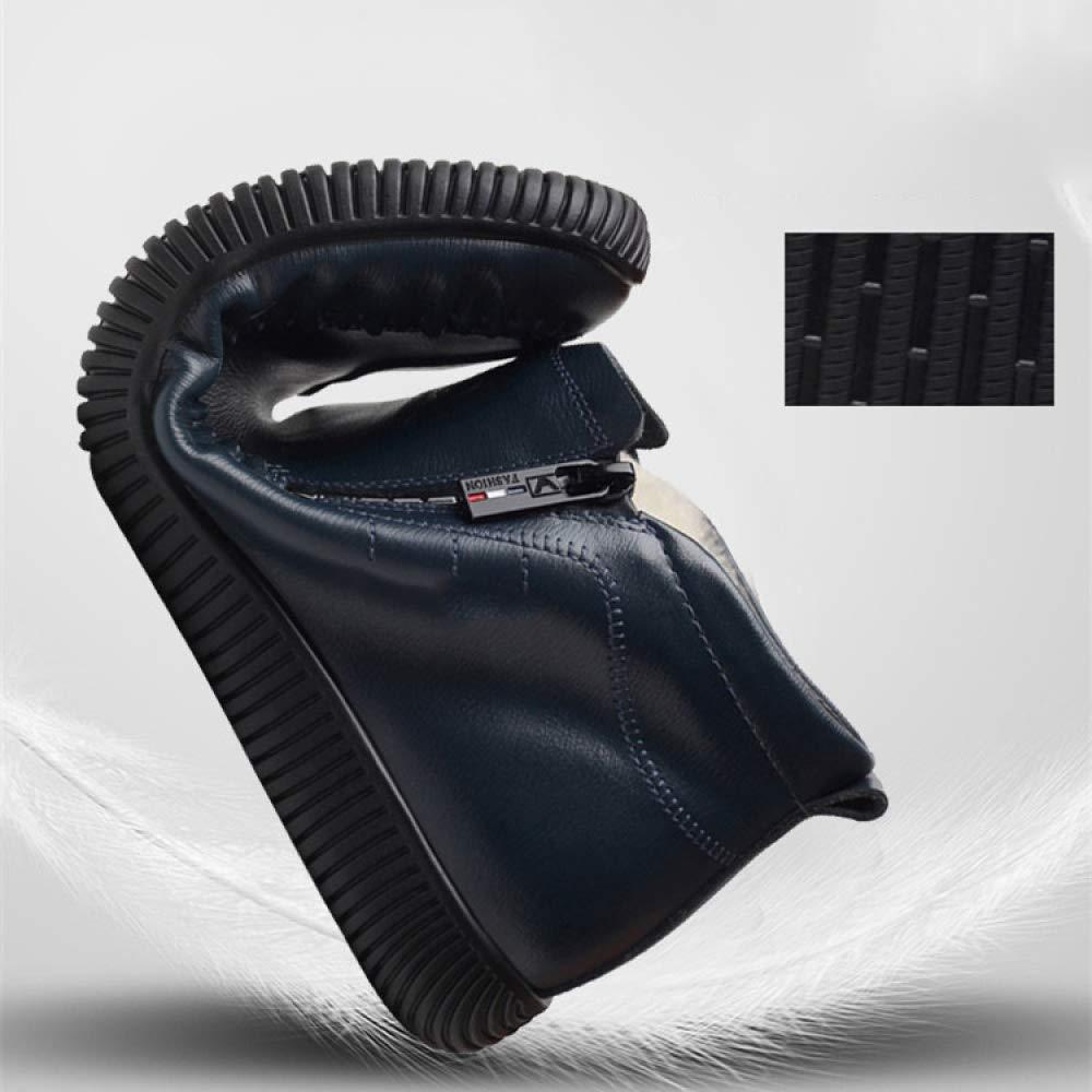 Herren Winter Outdoor Casual Lederschuhe British Style Ankle Stiefel Stiefel Stiefel Winter Schnee Warme Stiefel - Für Die Arbeit Und Das Gehen,Blau-43 269dc0