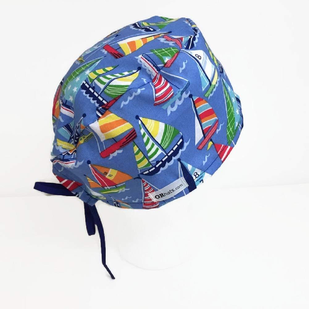 Uni Scrub Hat Sailboats