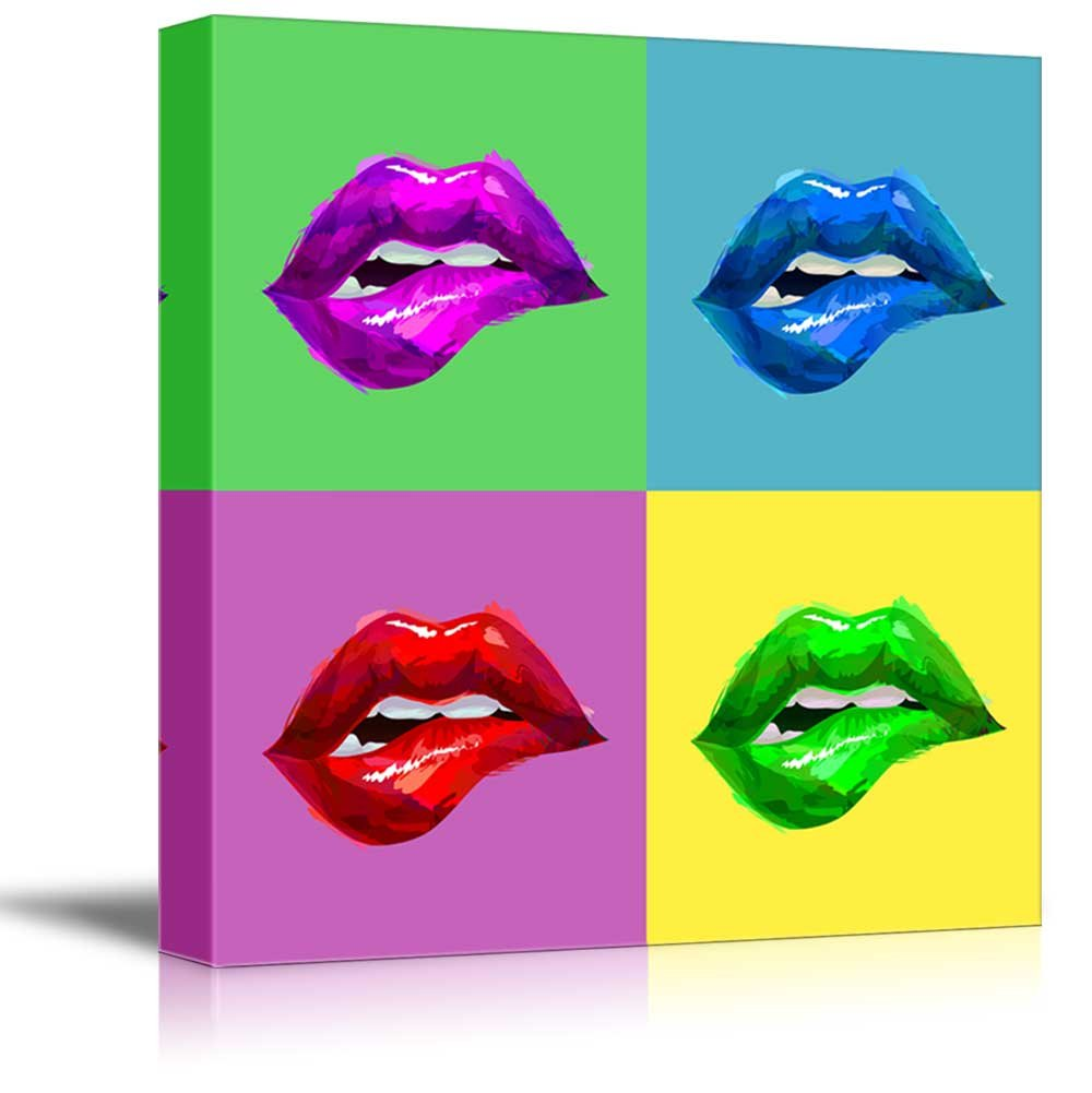 - Multi Color Pop Art With Sexy Lips - Canvas Art Wall26