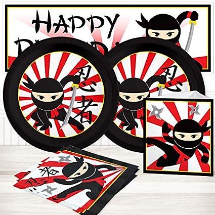 Amazon.com: Ninja Value Party Kit para hasta 16 invitados ...