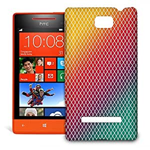 Phone Case For HTC 8S - Rainbow Mini Diamonds Glossy Premium