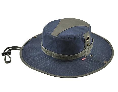 KeepSa Sombrero de verano para hombre, visera de algodón, sombrero de pescador, escalada al aire libre, azul: Amazon.es: Deportes y aire libre