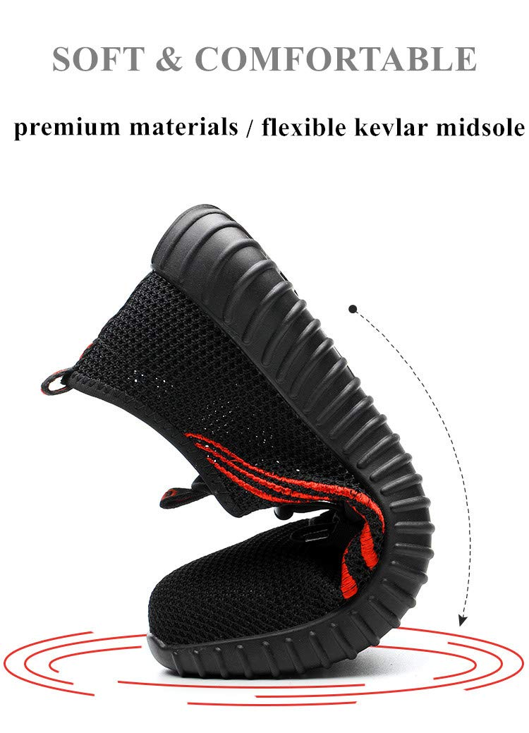 Safety Shoes Men Steel Toecap Steel Insole Safety Boots Men Fashion Causal Breathable Work Shoes by AiKim (Image #2)