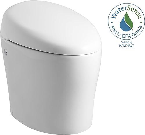 KOHLER K-4026-0 Karing Skirted One-Piece Elongated Toilet with Bidet Functionality