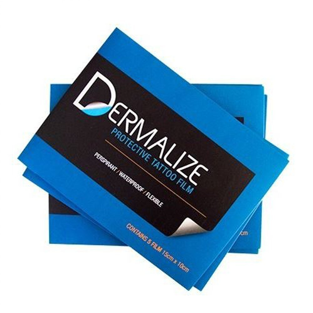 Dermalize Pro Sheets Tattoo Aftercare Coverup Film - 5 Pack - 15cm x 10cm (1 Pack of 5)