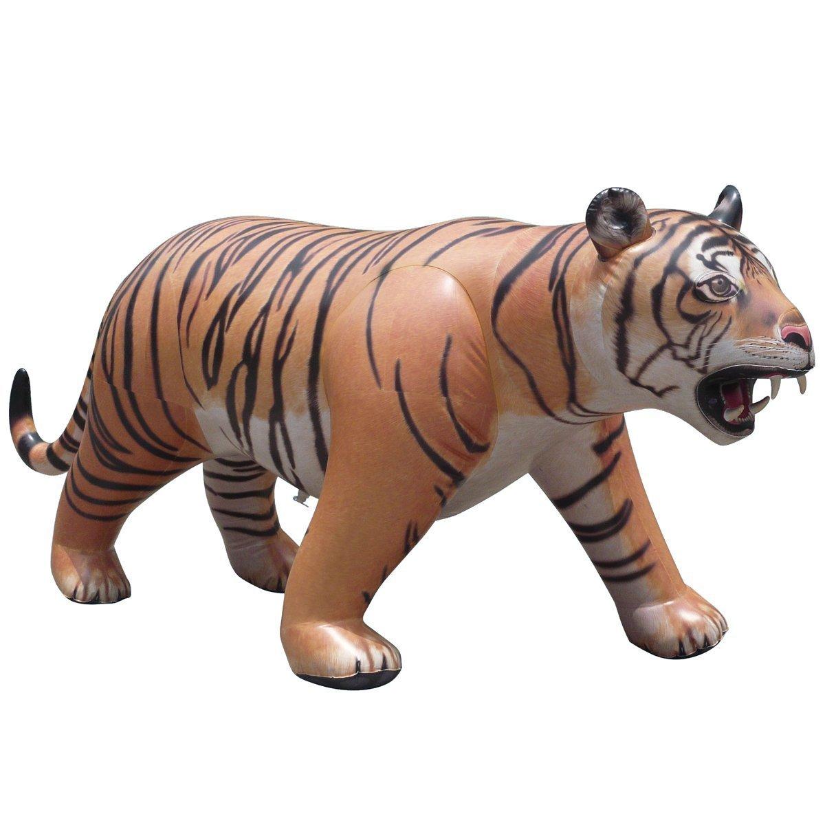 Inflatable Lifelike Life Size Replica Tiger, 96'' Long