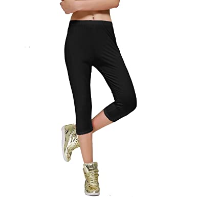 Stretch Cotton Capri Crop Seamed Leggings Tights at Amazon Women's ...
