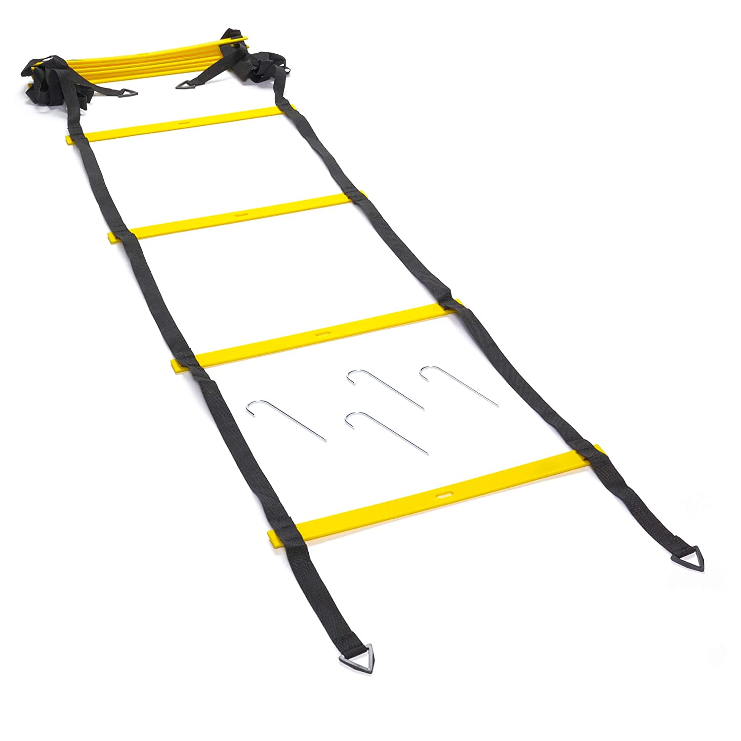 Kinelo Black Mountain Products Foldable Agility Ladder with Carry Bag, 6M