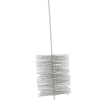 Kamino - Flam - Cepillo deshollinador para limpiar estufa, horno de leña, chimenea, tubos de chimeneas (150 cm/Ø 160 mm) - acero y plástico: Amazon.es: ...