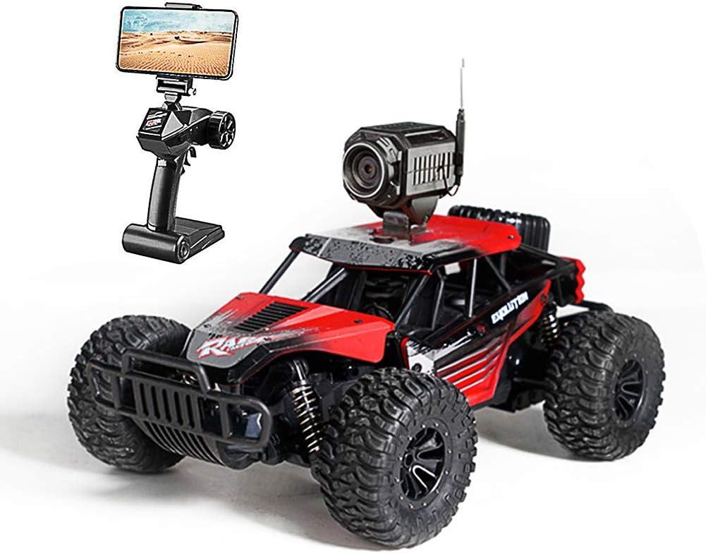 ZHIHQ RC Coche Teledirigido, Una Cámara WiFi 720P Monster Truck 2.4Ghz 1:16 Camino Coches Juguetes Radiocontrol Eléctric Monstruo para, Velocidad Ajustable, Apto para Niños Y Adultos