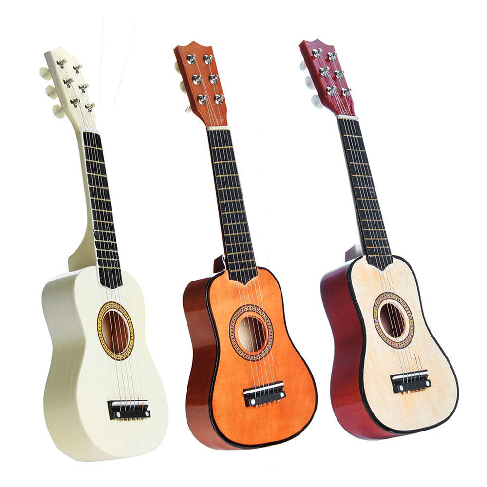 ec58a63e60 Amazon.com: 21 Inch 6 Strings Basswood Acoustic Classic Guitar for Kids  Children Gift Mini Musical Instrument - Wood: Toys & Games