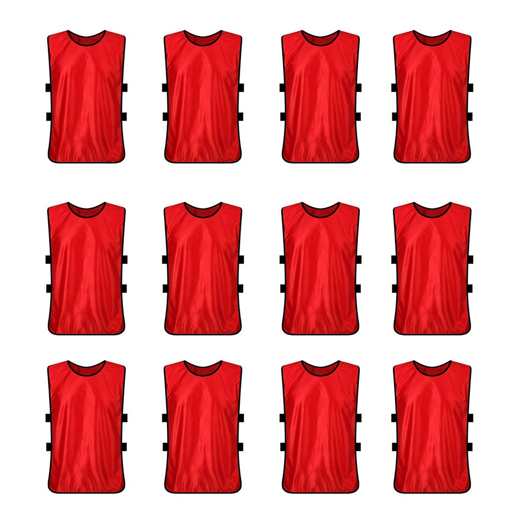 TopTie Pinnies Scrimmage Vests (12-Pack) - Perfect as Basketball Jersey, Football Jersey AI76771