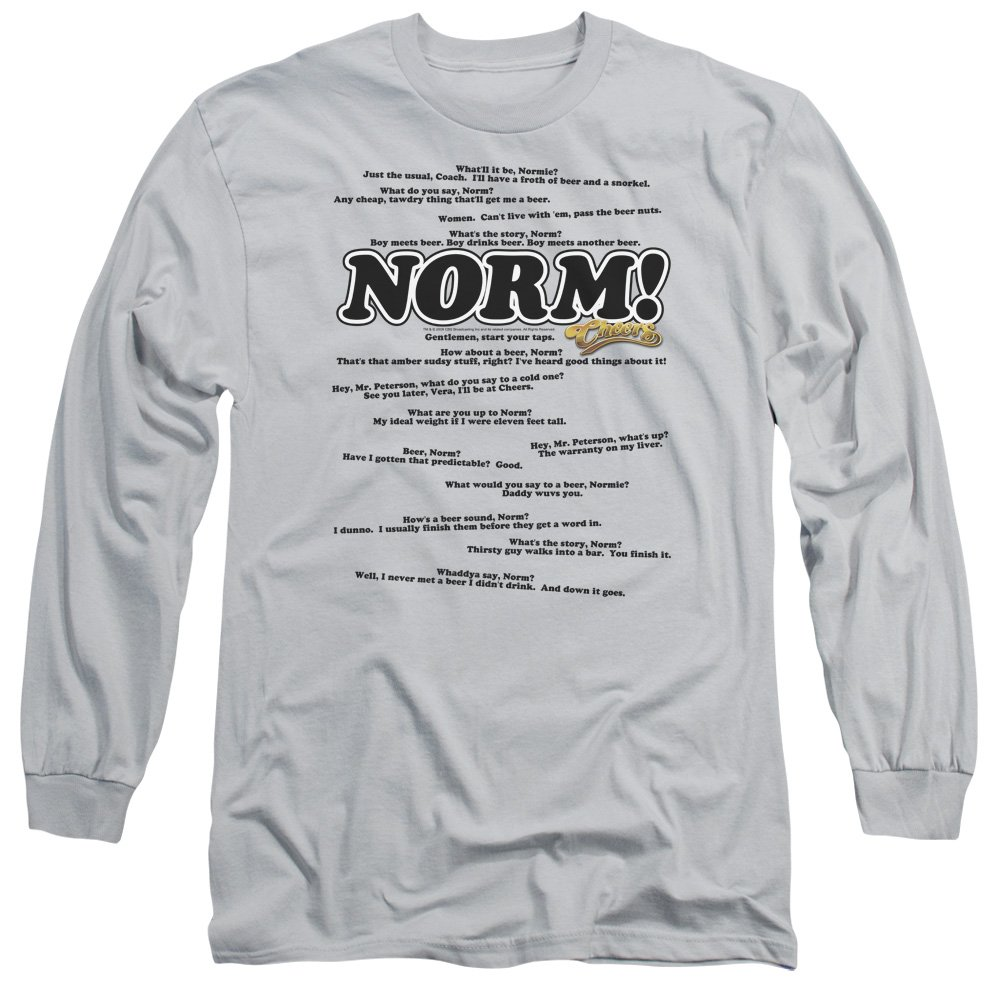 Amazon Cheers Norm Quotes Normisms 80s Cbs Tv Show Adult Long